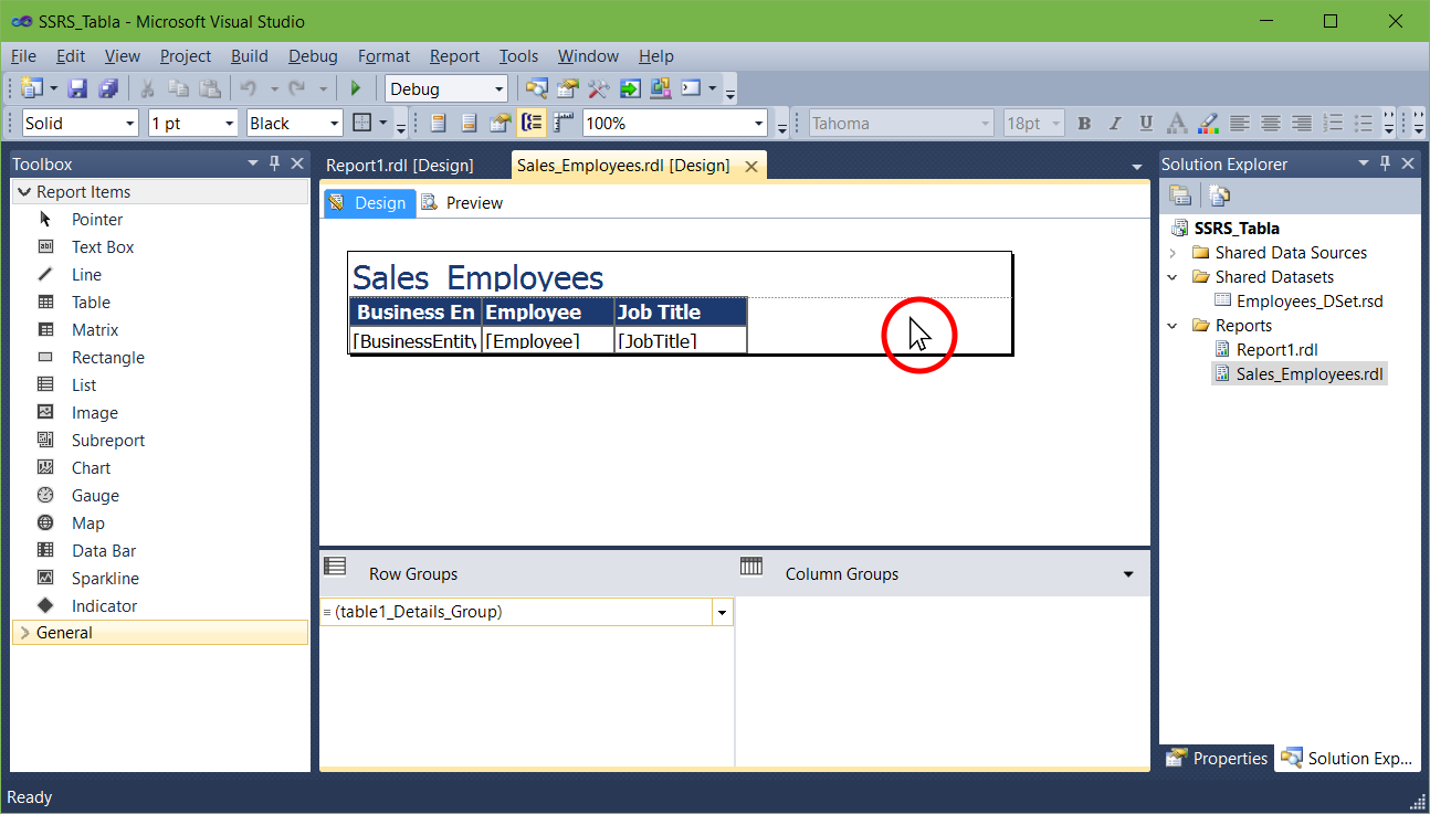 Recover the Report Data tab in SSRS | Rudy Rodarte   com