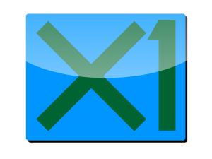 Logo for X1 software
