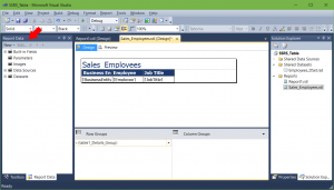 Report Data returns in SSRS