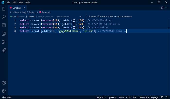Date Formats in SQL Server